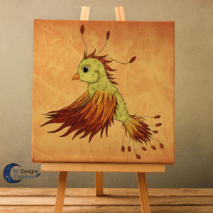 Canvas-Art-Feniks-Phoenix-Art-Fantasy-Muurdecoratie