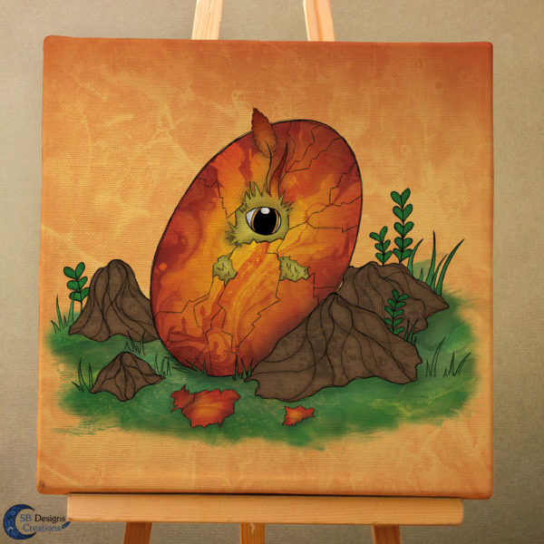 Canvas-Art-Feniks-Phoenix-Ei-Art-Fantasy-Wall-Decoration-3