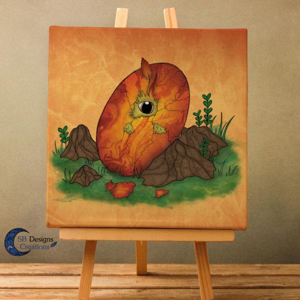 Canvas-Art-Feniks-Phoenix-Ei-Art-Fantasy-Wall-Decoration