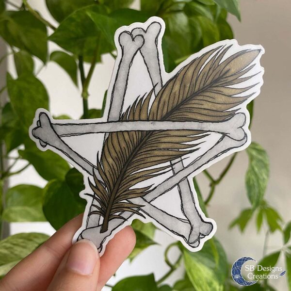Pentagram Veer Vinyl Sticker Animal Magic