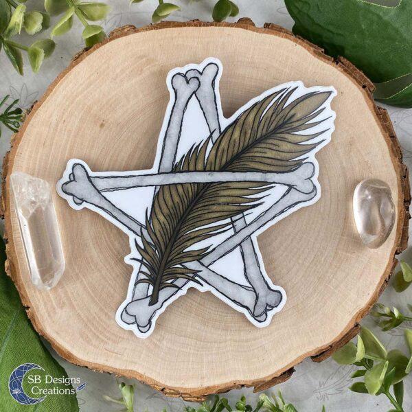 Pentagram Veer Vinyl Sticker Pagan Stickers