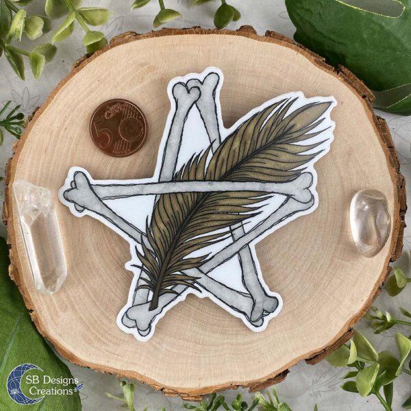 Pentagram Veer Vinyl Sticker Spiritualiteit Hekserij