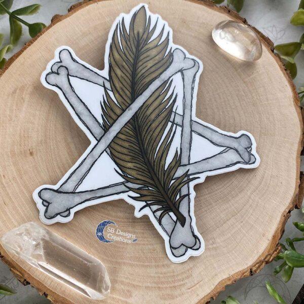 Pentagram Veer Vinyl Sticker Witchy Vibes
