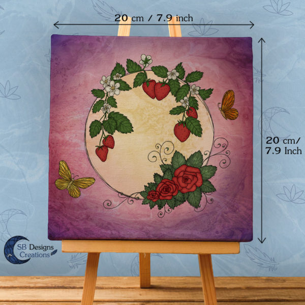 Volle Maan Art - Aardbeimaan Canvas Art - Strawberry Moon Full Moon Art-2