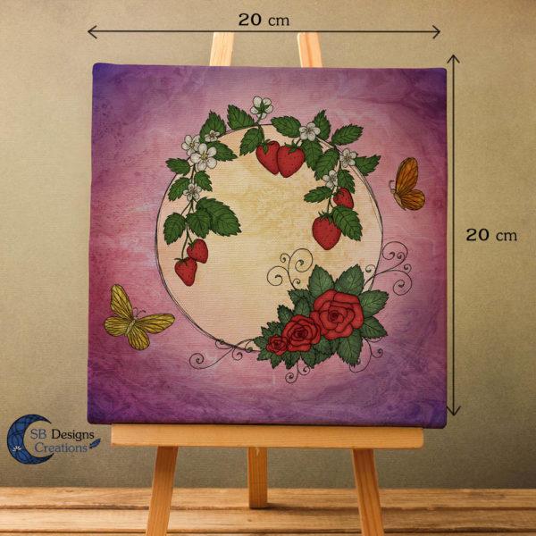 Volle Maan Art - Aardbeimaan Canvas Art - Strawberry Moon Full Moon Art-2