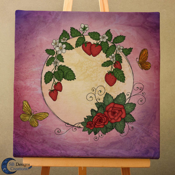 Volle Maan Art - Aardbeimaan Canvas Art - Strawberry Moon Full Moon Art-3