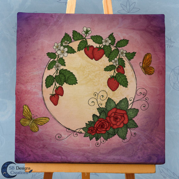 Volle Maan Art - Aardbeimaan Canvas Art - Strawberry Moon Full Moon Art-3