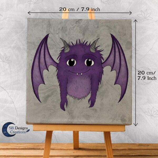 Cute-Monster-Purple-Canvas-Art-