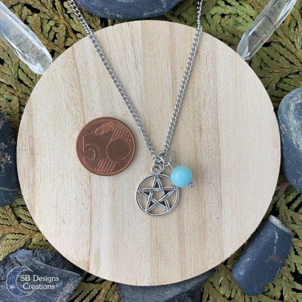 Amazoniet Pentagram Ketting - Heks Ketting-Spirituele Sieraden-Pentacle-3