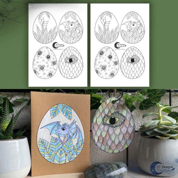 Easter-Ostara-Printable-Dragons-Eggs-Pasen-SB Designs Creations-1