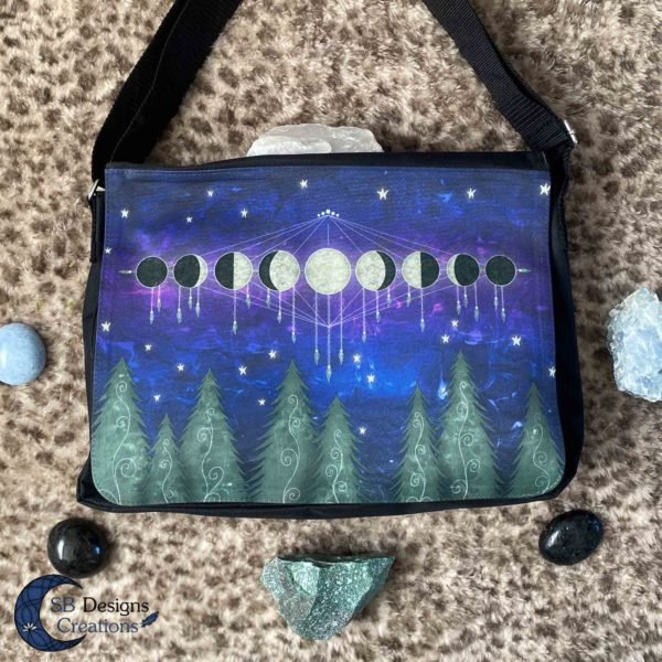Forest-Moonphases-Bag-Schooltas-Laptoptas-Fantasy-SB Designs Creations