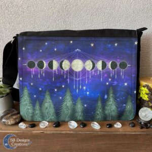 Forest-Moonphases-Moon-Messenger-Bag-Witch-Bag-Pagan-Moonchild-SB Designs Creations-1