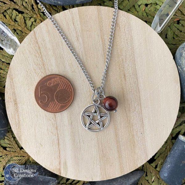 Heks-Ketting-Pentagram-Pagan-Sieraden-Edelsteen