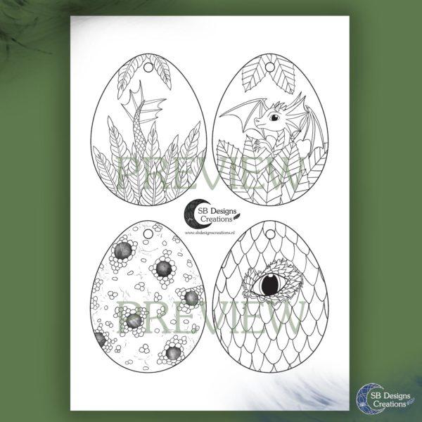 Lente-Kleurplaat-Fantasy-Draken