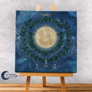 Nature Full Moon- Volle Maan Art Natuur Pagan Witchy-1-