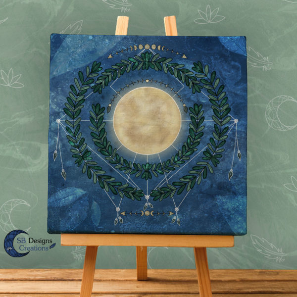 Nature Full Moon- Volle Maan Art Natuur Pagan Witchy-1