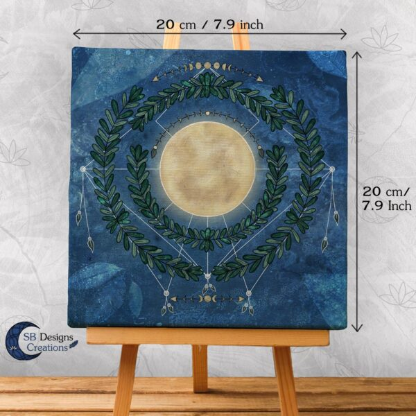 Nature Full Moon- Volle Maan Art Natuur Pagan Witchy-2-