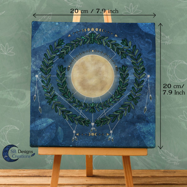 Nature Full Moon- Volle Maan Art Natuur Pagan Witchy-2
