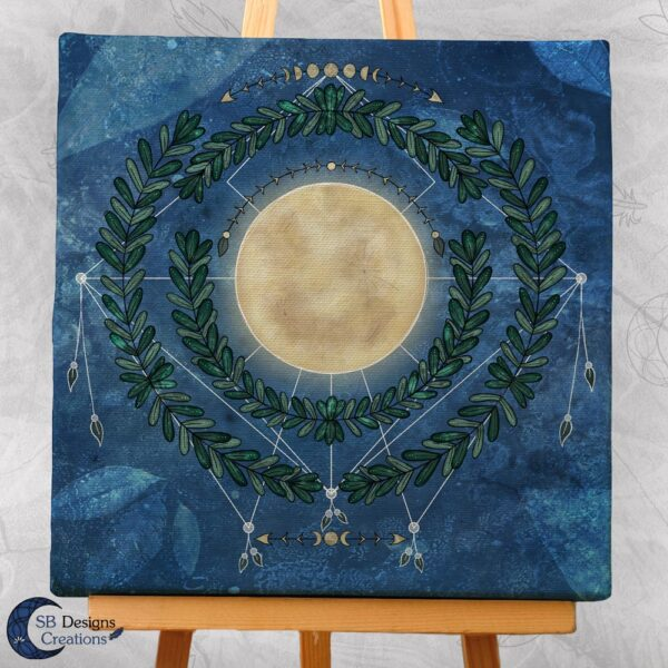 Nature Full Moon- Volle Maan Art Natuur Pagan Witchy-3-