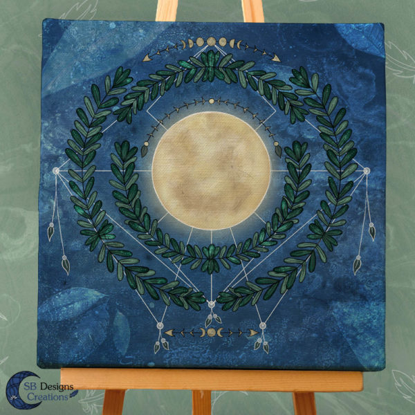 Nature Full Moon- Volle Maan Art Natuur Pagan Witchy-3
