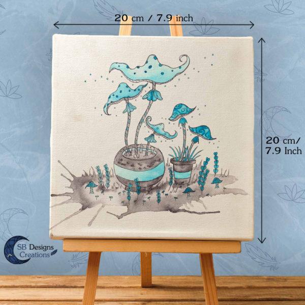 Paddestoelen Art Inktober inkt illustratie print witchy vibes-2
