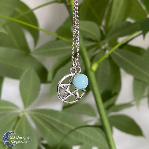 Pentagram-Hanger-Verzilverd-Met-Amazoniet