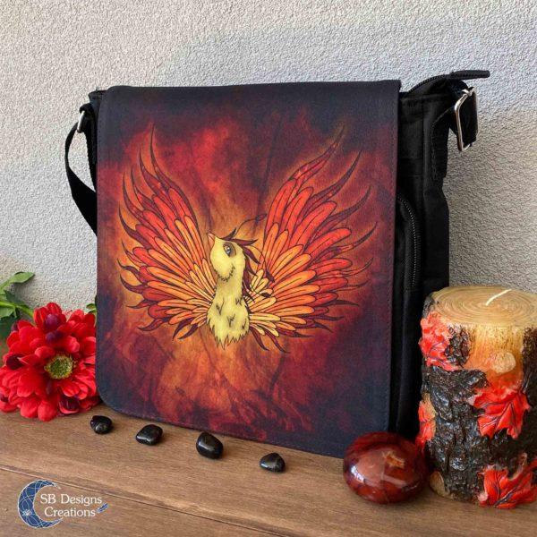 Phoenix Feniks Art Tas Schoudertas van stevig stof