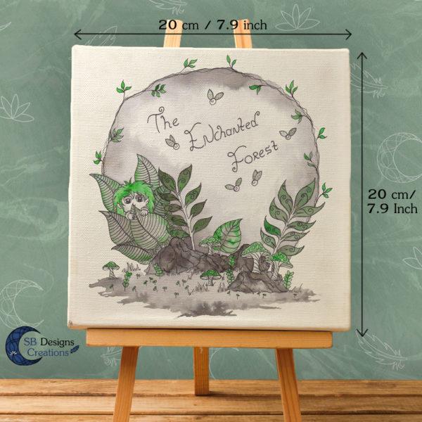 The Enchanted Forest-Canvas Art- Inkt illustratie-inktober-natuur-sbdesignscreations-2
