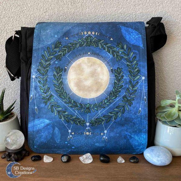 Volle Maan Natuur Schoudertas Full Moon Art Moonchild-1