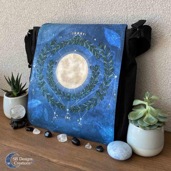 Volle Maan Natuur Schoudertas Full Moon Art Moonchild-2
