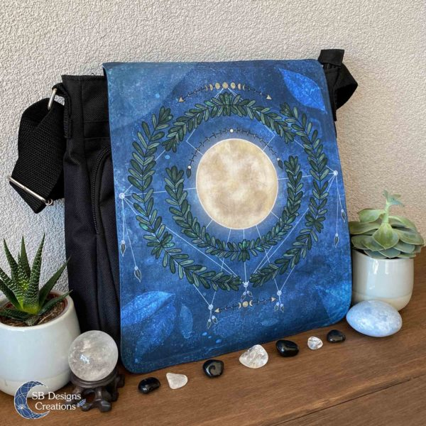 Volle Maan Natuur Schoudertas Full Moon Art Moonchild-3