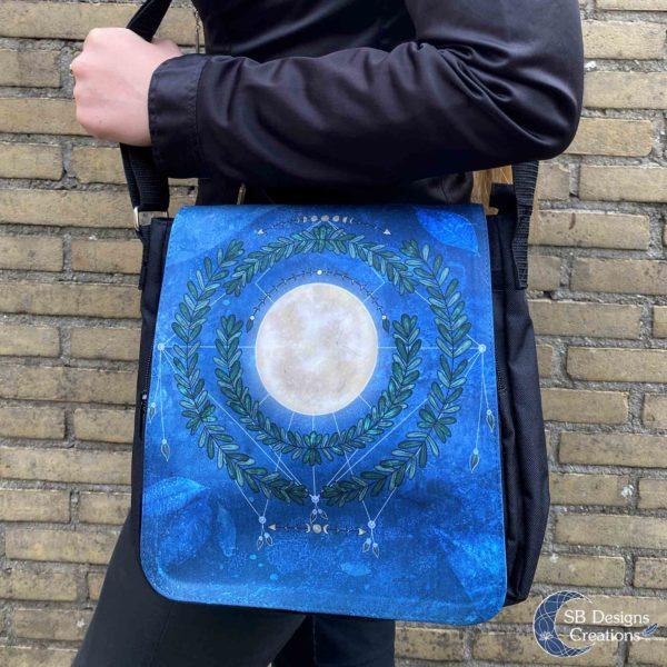 Volle Maan Natuur Schoudertas Full Moon Art Moonchild-4