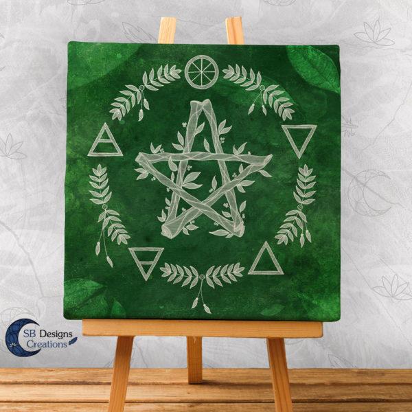 Canvas Print Pentagram Elementen Hekserij Art