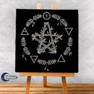 Elemental Magick - Canvas Art - Spiritueel - Hekserij -Heksenhuis-1