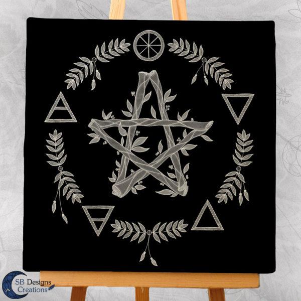 Elemental Magick - Canvas Art - Spiritueel - Hekserij -Heksenhuis-3