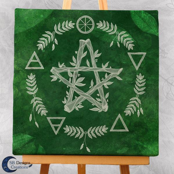 Elementen en het pentagram - canvas Art - SB Designs Creations