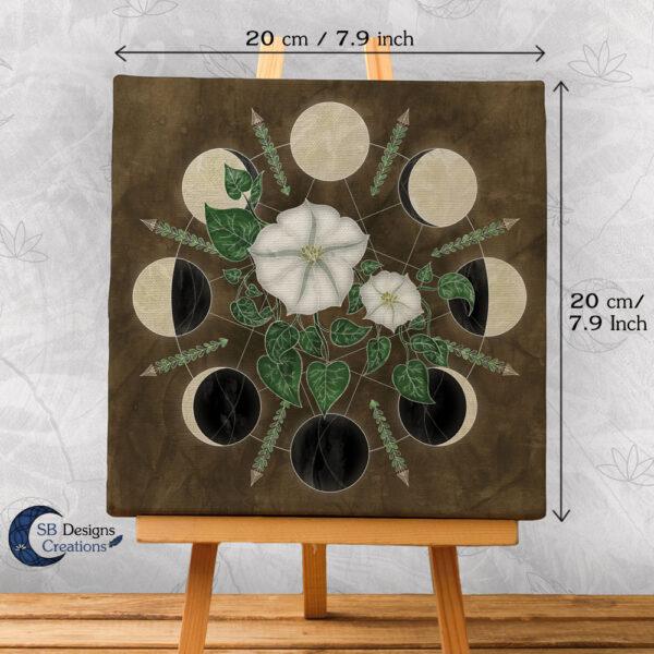 Moon Flowers - Maan Bloemen Kunst- Maan illustratie SBDC-2