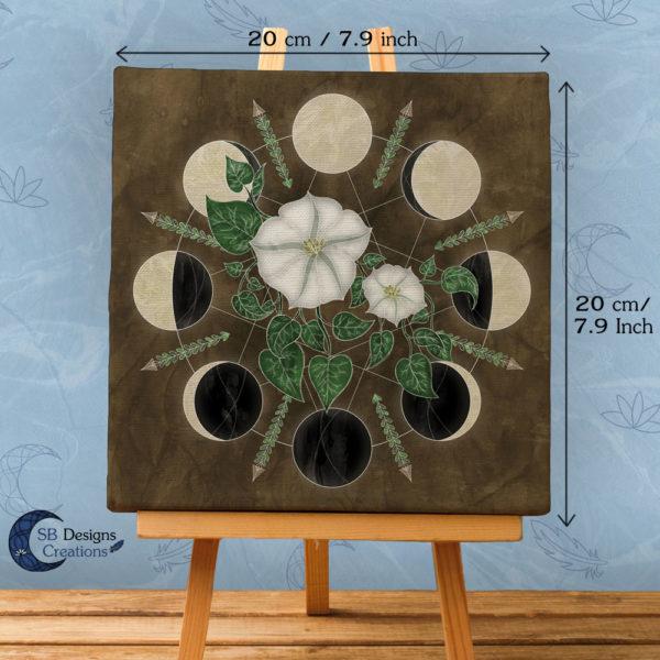 Moon Flowers - Maan Bloemen Kunst- Maan illustratie SBDC