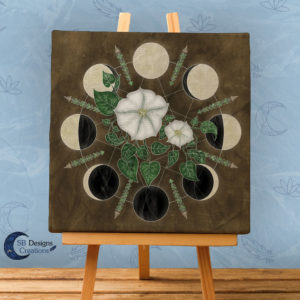 Moon Flowers Moon Phases - Moonwitch - Maanfasen Kunst - Pagan huis - Heksenhuis-SB Designs Creations