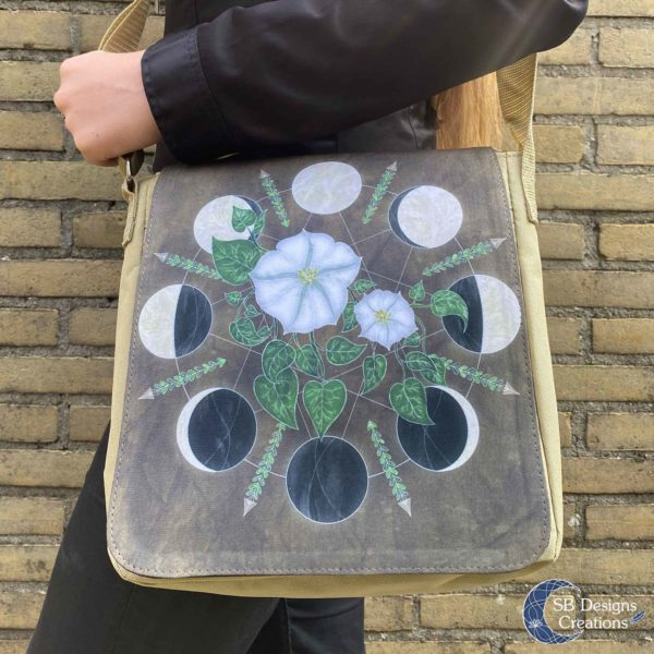 Moonflowers-Moonphases-Shoulder-Bag-Messenger-Bag-SBDesignsCreations-5