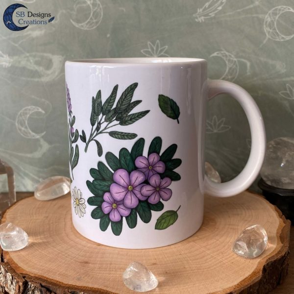 Witch Tea Herbs Plant Magick Herbal Tea Heksen Thee Unieke Mok geillustreerde producten