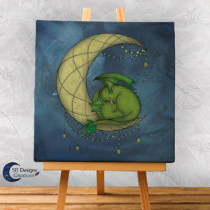 Maandraak Moondragon Canvas Art Huisdecoratie Fantasy Dragonlover-1