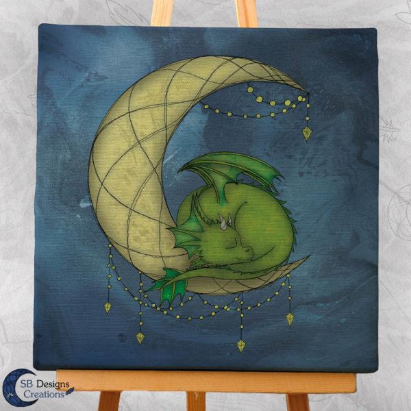 Maandraak Moondragon Canvas Art Huisdecoratie Fantasy Dragonlover-3