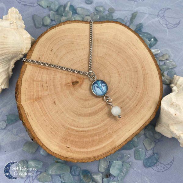 Marmer Ketting Aquamarijn Blauw SB Designs Creations