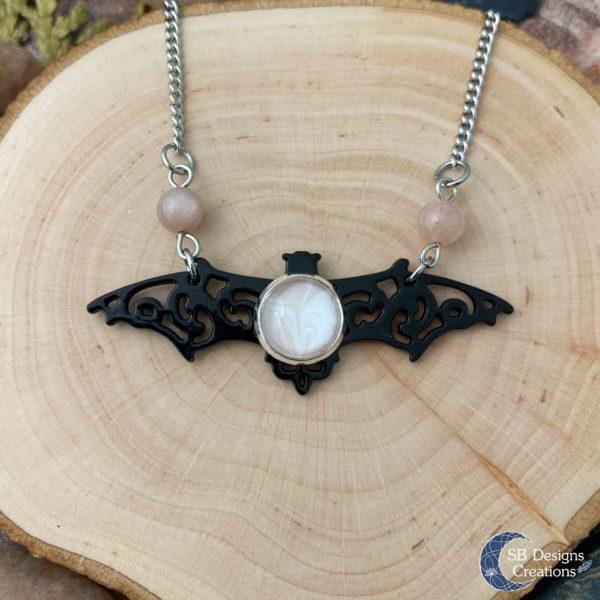 Vleermuis-Ketting-Bat-Necklace-Vampire-Sunstone-Spirit-Animal-4