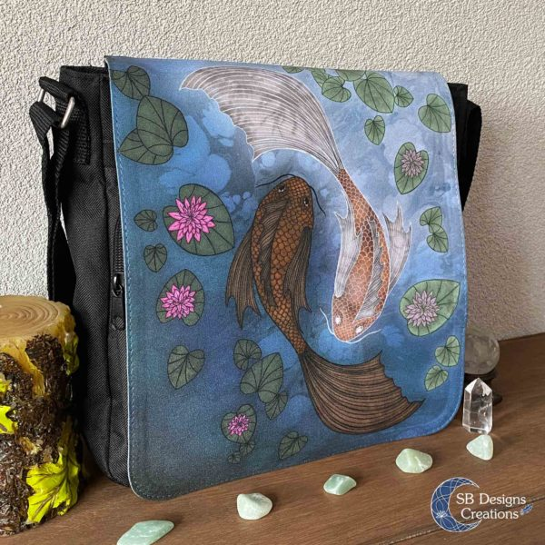 Yin-Yang-Koi-Carp--Shoulder-Bag-Messenger-Bag-SBDesignsCreations-2