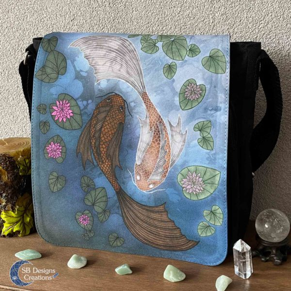 Yin-Yang-Koi-Carp--Shoulder-Bag-Messenger-Bag-SBDesignsCreations-3