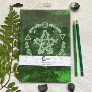 hardcover-Notebook-Elemental-Magick-Green