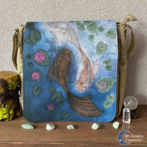 Yin-Yang-Koi-Carp--Shoulder-Bag-Brown-Messenger-Bag-SBDesignsCreations-1