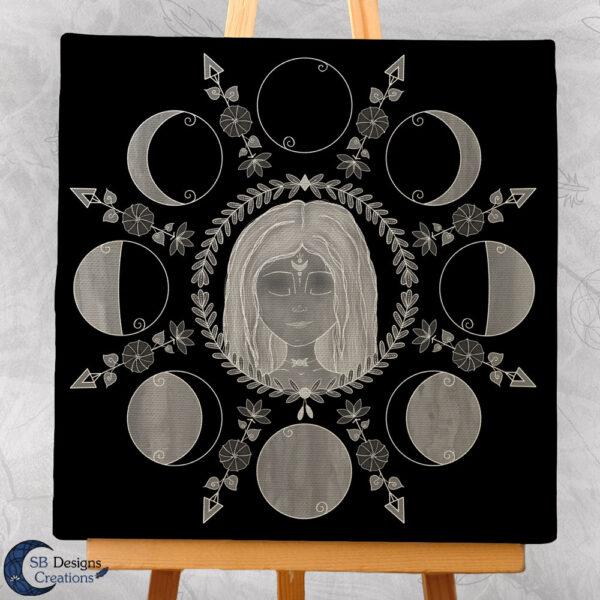 Cailleach Maangodin Canvas Art Spiritueel-3